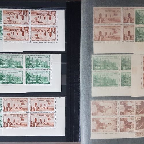 PROTECTION OF INDIGENOUS CHILDHOOD 1942 83 values in blocks of 4. New