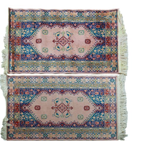 Two small carpets  90 x 60 cm  sold as is