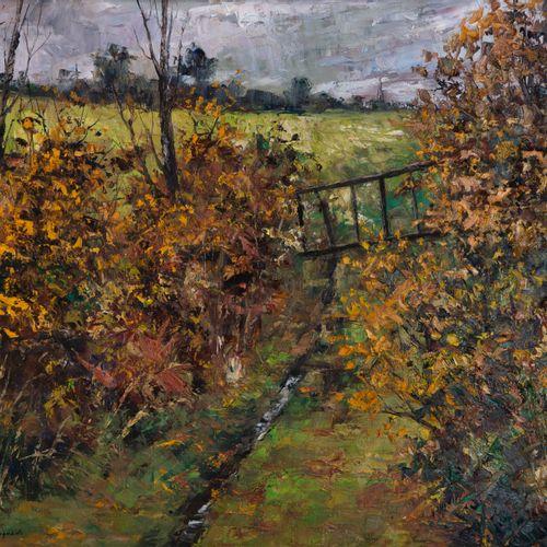 Guy PENNAMEN (né en 1932)  Paysage  Huile sur toile, 59 x 70 cm, SBG