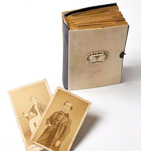Paul VERLAINE (1844 1896), RARE ALBUM PHOTOGRAPHIQUE DE LA FAMILLE VERLAINE Paul…