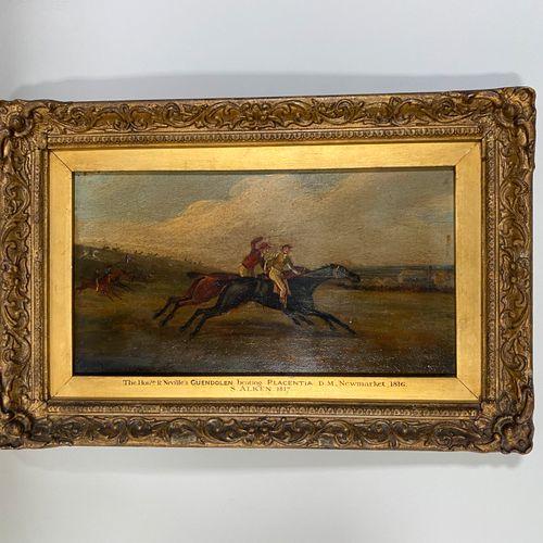 Samuel ALKEN (1784 c.1825), Guendolen beating Placentia. Huile sur panneau datée…