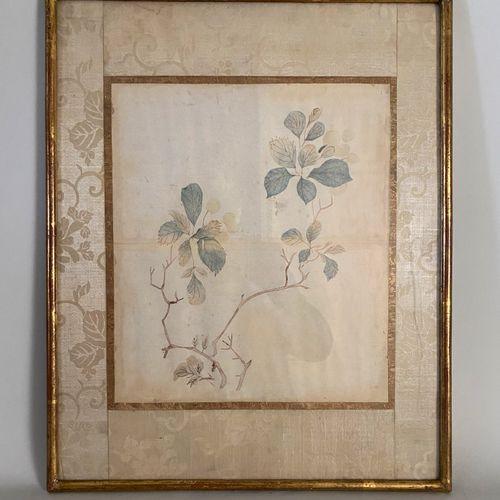 Chine XX ème, Natures mortes aux fleurs, paire d'aquarelles. 42 x 34 cm.