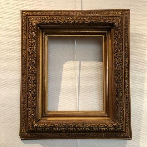 Carved gilded wood frame. Louis XVI style.