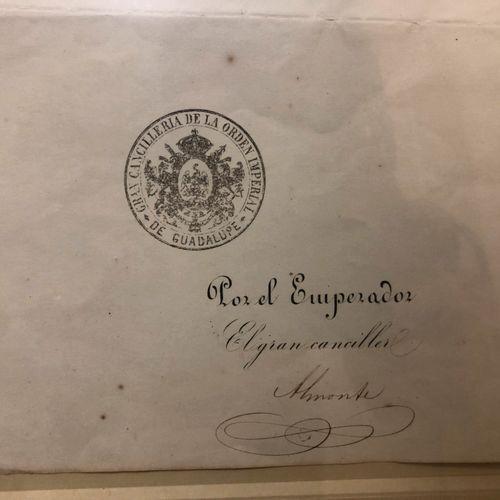 DOCUMENT officiel Mexico 6 Juillet 1865; 1 page en partie imprimée à en tête Max…