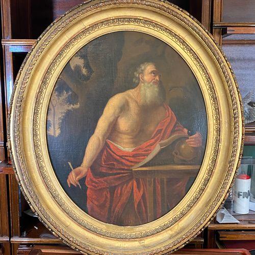 DORLY (Actif en France au début du XVIIIème siècle), Toile ovale. 69 x 56 cm. Si…