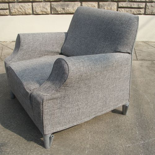 Philippe STARCK (born in 1949). Armchair LWS (Lazy Working Sofa) in grey lacquer…