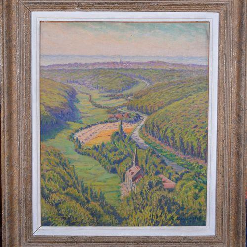Gustave CARIOT (1872 1950), Vue de Schlangenbad, huile sur isorel signé et daté …