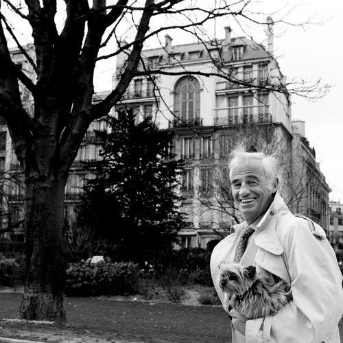 Luc ROUX (né en 1956), Jean Paul Belmondo, Paris, 1996. Photographie. Tirage arg…