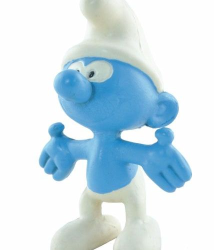 PEYO Pooch. Smurf soft vinyl figure. Made in 1968 by Sica Toys. The whistle work…
