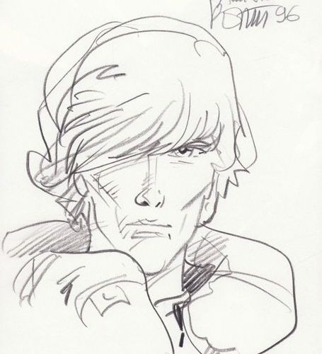ROSINSKI Rosinski. Dedicated original pencil drawing on the front page of volume…