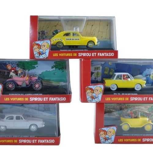 FRANQUIN Spirou. Spirou and Fantasio's cars. Set of 23 cars made by Atlas in 200…
