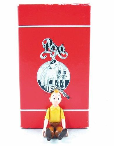 HERGÉ Tintin. Creation Pixi (1993). Tintin yellow shirt. Articulated collection.…