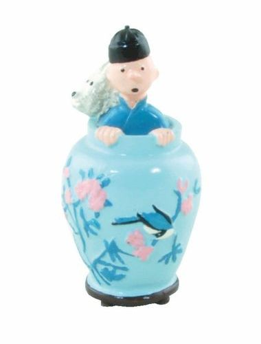 HERGÉ Tintin. Creation Pixi (1990). The blue lotus, Tintin and Snowy in the vase…