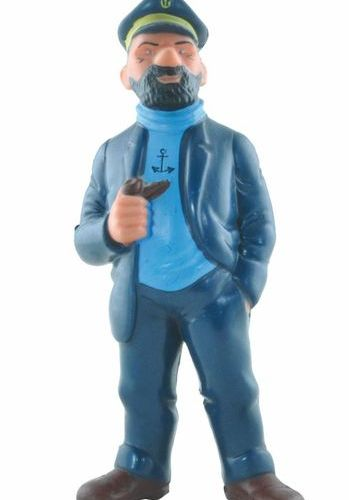 HERGÉ Tintin. Soft vinyl figure Haddock with a pipe. Made at the end of the 50s,…