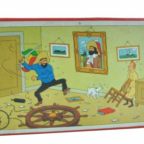 HERGÉ Puzzle. Wooden jigsaw puzzle Dubreucq (50's) n°4: The secret of the Unicor…