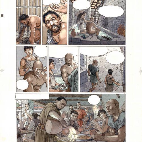 Delaby, Philippe (1961 2014). Encre, crayon et feutre pour cette mise en couleur…
