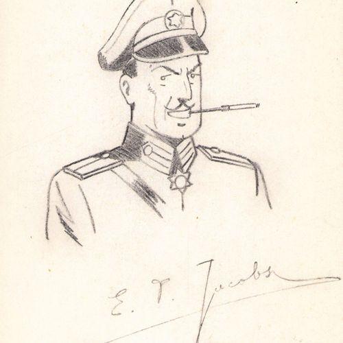Jacobs, Edgar Pierre (1904 1987). Mine de plomb sur papier fin pour cette illust…