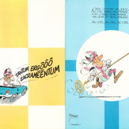 FRANQUIN The mitre mocker. Portfolio made by Aedena in 1986. Edition 650 ex. N°/…