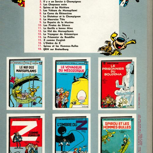FRANQUIN Spirou and Fantasio. Volume 16: L'ombre du Z. 2nd edition of 1967 (Dupu…