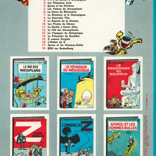 FRANQUIN Spirou and Fantasio. Volume 13: The traveller of the Mesozoic. Edition …