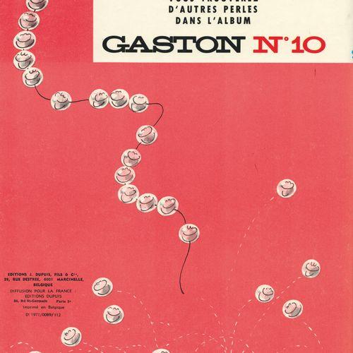 FRANQUIN Gaston. Volume 9: The case Lagaffe. Eo of 1971 (Dupuis). Round laminate…