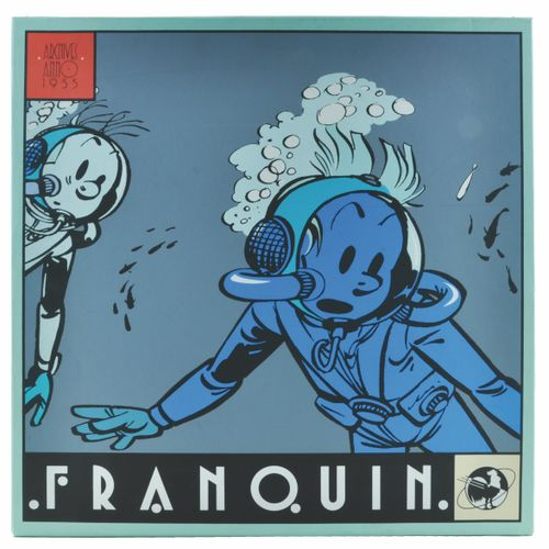 FRANQUIN Spirou and Fantasio. Portfolio Le repaire de la Murène. Edition 1000 co…