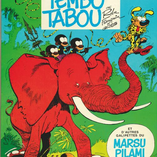 FRANQUIN Spirou and Fantasio. Volume 24: Tembo Tabou. Eo of 1974 (Dupuis). Round…