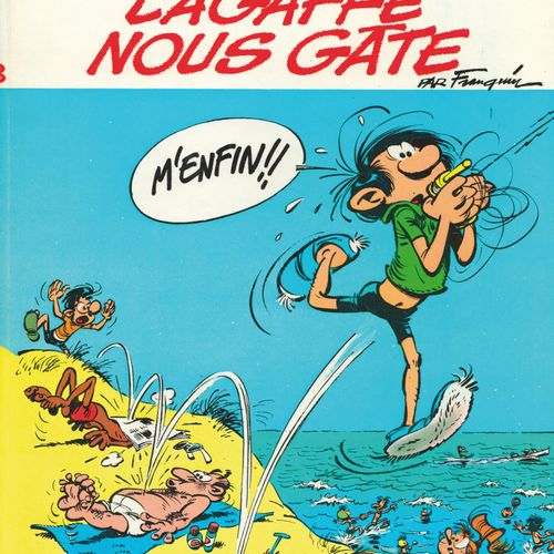 FRANQUIN Gaston. Volume 8: Lagaffe spoils us. Eo of 1970 (Dupuis). Round back la…