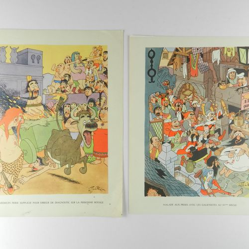 TILLIEUX Tillieux. Rare complete set of 12 posters made by M. Tillieux for the c…