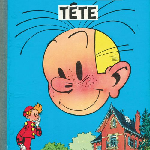 FRANQUIN Spirou and Fantasio. Volume 8: The bad head. Belgian eo from 1956 (Dupu…