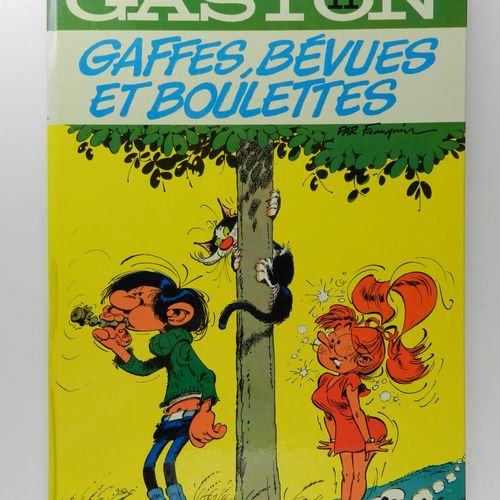 FRANQUIN Gaston. Volume 11: Blunders, blunders and pellets. Eo of 1973 (Dupuis).…