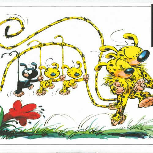 FRANQUIN Marsupilami. Enamelled plate made by Coustoon in 2012. Edition of 700 n…