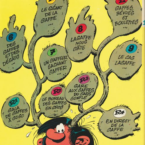 FRANQUIN Gaston. Volume 12: Le gang des gaffeurs. Eo of 1974 (Dupuis). Round lam…