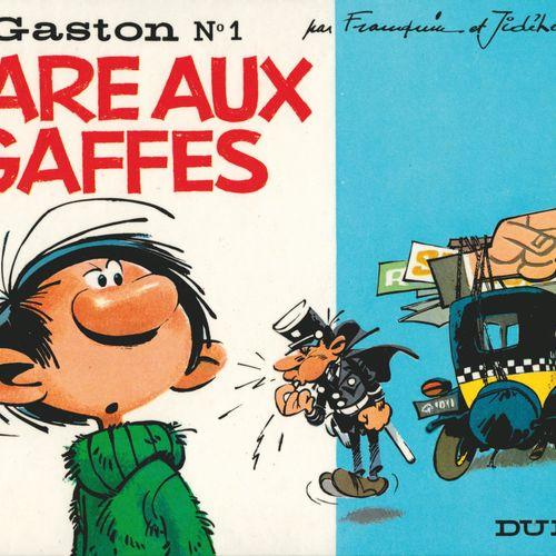 FRANQUIN Gaston. Volume 1: Gare aux gaffes. Eo of 1966 (Dupuis). Round back, Ita…