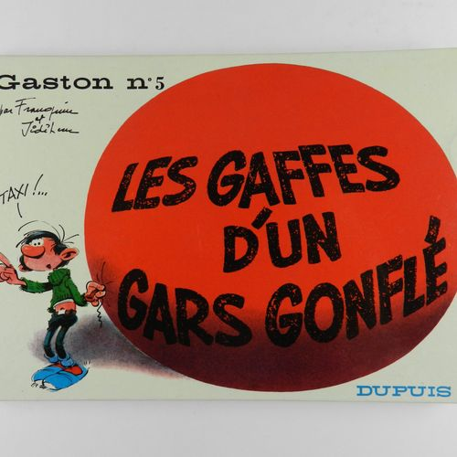 FRANQUIN Gaston. Volume 5: The blunders of a bloated guy. Eo of 1967 (Dupuis). R…