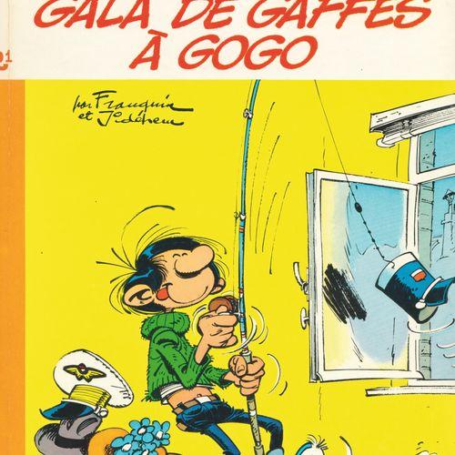 FRANQUIN Gaston. Volume R1: Gala de gaffes à gogo. Eo de 1970 (Dupuis). Dos rond…