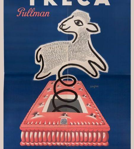SAVIGNAC Raymond Treca Pullman. Le matelas laine et ressorts. 1954. Importante a…