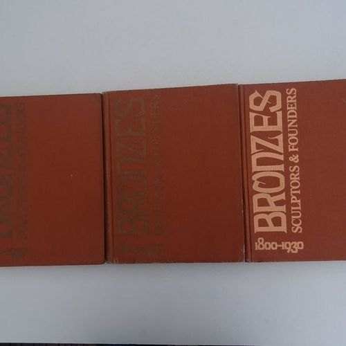 """""""Bronzes, sculptors and founders 1800 1930"""" [Three volumes: I, III, IV], Harold …"""