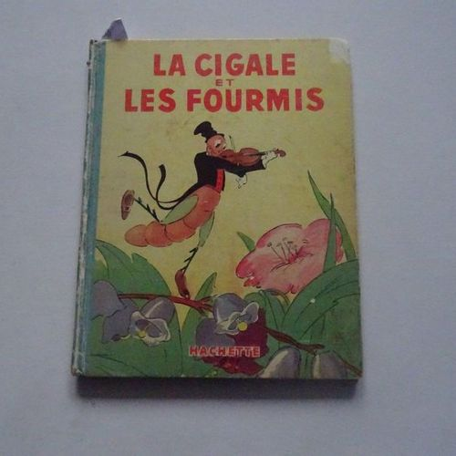 """""""La cigale et les fourmis"""", Magdeleine Genestoux, drawings after the Walt Disney…"""