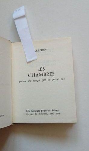 """""""Les chambres: poème du temps qui ne passe pas"""", Aragon; Ed. Les éditeurs França…"""