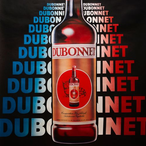 ANONYMOUS. Dubonnet. Circa 1980. Offset posters. Printed in France Mercure Graph…