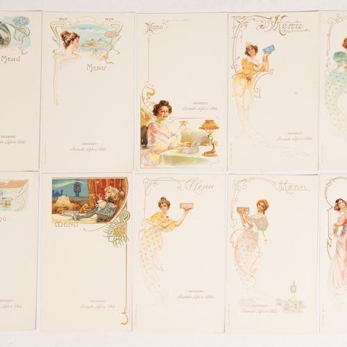LEFEVRE UTILE. 10 advertising menus. Art Nouveau series. Dessert Biscuits Lefèvr…