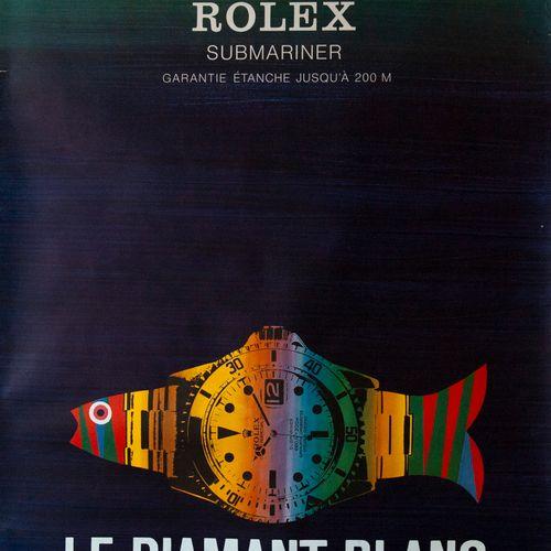 PIATTI Celestino. Rolex Submariner. 1975. Offset poster. Lichtdruck AG. Not cove…