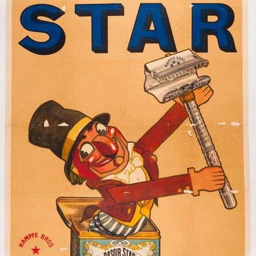 JARACH Albert. Star razor. Kampfe Bros New York. Lithographic poster. No mention…