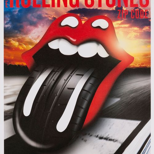 Original poster of the Rolling Stones Tour. July 4th, 2015. Zip Code. Motor Spee…