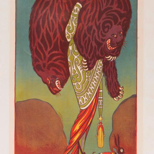 M.V. (monogram). Comedy Fashion. The Fur Lady. Circa 1915. Lithographic poster. …