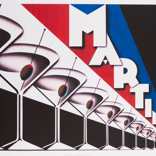 FORNEY Steve. Martini. 1999. Offset poster. Published by the McGraw Group LLC. C…