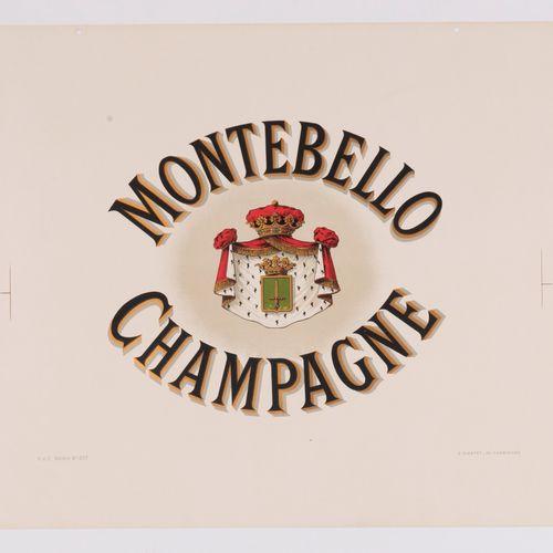 ANONYMOUS. Champagne Montebello. Circa 1920. Lithographic poster. E. Plantet Ay …