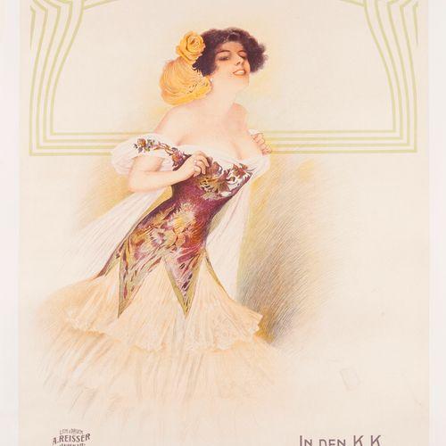 ANONYMOUS. I. International Moden Ausstellung. 1907. Lithographic poster. A. Rei…