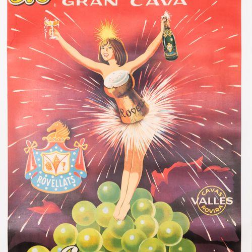 ANONYMOUS. Rovellats. Gran Cava. Es... Mejor! 1955. Lithographic poster. Grafica…